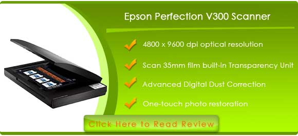 Epson Perfection V300 Photo Color Scanner