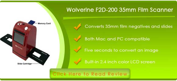 Wolverine F2D 35mm Film to Digital Image Converter with 2.4-Inch LCD and TV-Out